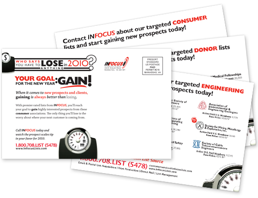 A variable data campaign we sent out in January of 2010.